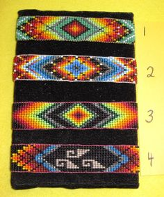 Native American Huichol Beaded Cuff Bracelet Your Choice  FREE SHIPPING