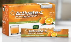 Activate-C Immune Complex Orange flavored Vitamin C Drink 20 packets--pure and chemical free