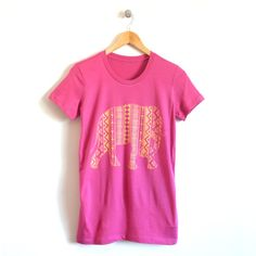 Elephant Ladies Crew T-Shirt in Berry – This graphic tee is perfect for a quick and cute look about town. Match your little and get them our children's 'Little Peanut' graphic tee.