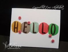 Stampin' Up! Layered Letters Alphabet by Melissa Davies @rubberfunatics #rubberfunatics #stampinup
