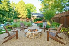 The 5 Main Types of Fire Pits You Need to Know Before Purchasing - Cozy Home 101 Design Tropical, Landscape Design, Garden Design, House Landscape, Patio Design, Pea Gravel Patio, Gravel Path, Fire Pit Essentials, Outside Fire Pits
