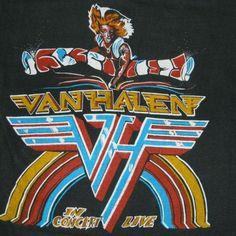 1980 VAN HALEN VINTAGE TOUR T-SHIRT CONCERT TEE 80S | eBay