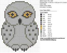 Hedwig. Pattern made by me, original artwork not mine. A link to the original artwork can be found on the pattern.