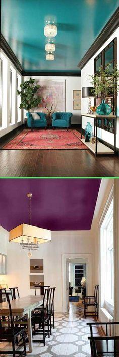 zimmerdecke farbig streichen sind sie daf r oder dagegen deckengestaltung. Black Bedroom Furniture Sets. Home Design Ideas