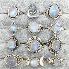 """empty-casket: """" Rainbow Moonstone has a gentle calming energy. It helps to strengthen intuition and psychic perception, and enhances creativity, compassion, endurance and inner confidence. Hippie Jewelry, Cute Jewelry, Jewelry Accessories, Jewelry Design, Jewelry Ideas, Moonstone Jewelry, Diamond Jewelry, Gemstone Jewelry, Moonstone Pendant"""
