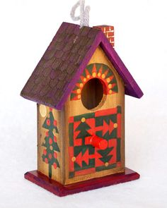 CHRISTMAS TREE BIRDHOUSE  Rustic Hand Painted by KrugsStudio, $14.99  Shop Early! Others will! Christmas will be here before you know it!!!