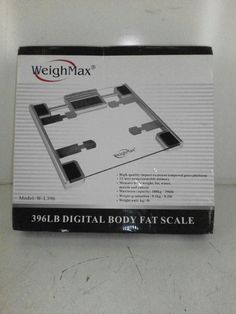 Weighmax Digital Body Fat and Water Bathroom Scale-$50 Value!