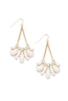 Chained Petal Drop Earrings | Forever 21 - 1000165040