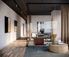 This is a project were we had the possibility to design and create a workspace located in Moscow. Corporate Office Design, Modern Office Design, Corporate Offices, Office Designs, Commercial Office Design, Cool Office Space, Office Spaces, Interior Design Work, Interior Ideas