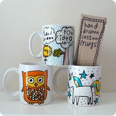 Can you afford the user some control to personalise the design? - Blank mugs that individual can personalise.