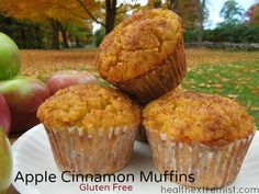 These gluten free apple cinnamon muffins are so delicious! My family enjoyed them so much, they didn't even realize they're gluten free and dairy free.