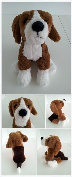 Ikea Gosig Valp Puppy Dog Plush Stuffed Animal Baby Toy Tan Brown Beagle http://www.bonanza.com/booths/LostLoves