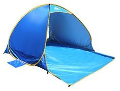 OutdoorsmanLab Automatic Pop Up Beach Tent Lightweight For Family with UV 50 Protection Easy Carrying Bag Wind Resistant Features