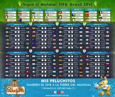 Fixture del Mundial - Mis Peluchitos - Mis Peluchitos