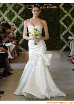 Belle robe de mariage sirène 2013 magnifique drapé taffetas