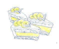 Banana cream pie ~ illustration