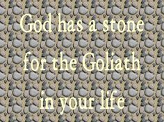 David defeated the Philistine with a sling and a stone.. 1 Samuel 17:50 HCSB