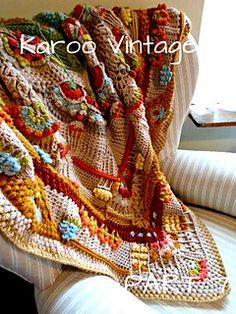 Ravelry: Karoo Vintage MAL pattern by Jen Tyler Crochet Mandala Pattern, Granny Square Crochet Pattern, Crochet Flower Patterns, Crochet Stitches Patterns, Crochet Squares, Crochet Designs, Crochet Granny, Granny Squares, Crochet Flowers