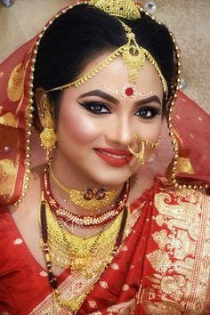 Top 20 Trendy Indian Bridal Makeup Images - Makeup Artist in Delhi Bridal Makeup Images, Asian Bridal Makeup, Bridal Makeup Looks, Bridal Looks, Bridal Makup, Bridal Beauty, Bengali Bride, Pakistani Bridal, Bengali Wedding