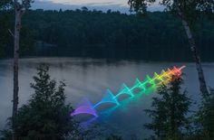 Today the Department of Luminous Light Painting is enjoying these dreamy photos taken by Ontario-based photographer Stephen Orlando, who uses programmable LED light sticks attached to canoes and kayak. Orlando, Kayaks, Ontario, Exposure Lights, Light Painting Photography, Amazing Photography, Photography Ideas, Long Exposure Photos, Colossal Art