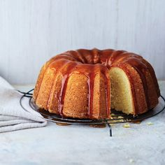 Top off this classic tangy lemon cake with a jammy apricot and lemon glaze for extra sweetness.