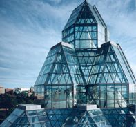 """National Gallery of Canada, Ottawa; visited in July for """"Van Gogh Up Close"""" - Fantastic building and exhibition. Post Modern Architecture, Famous Architecture, Ottawa Canada, O Canada, Ottawa Ontario, National Art Museum, Capital Of Canada, Canada House, Glass Building"""