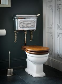 Traditional low level toilet cistern- the Deluge in a polished finish