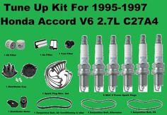 1995-1997 Tune Up Kit Honda Accord V6 Serpentine Belt, Spark Plug, Engine Filter #AftermarketProducts