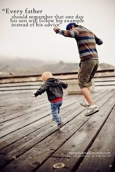 I adore this..Father and son relationship!