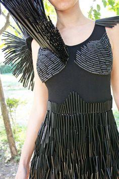 Con curvas y a la moda: Vestido reciclado