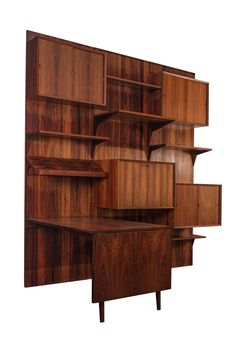 Modular Rosewood Wall System by Poul Cadovius