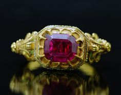 Gold & Tourmaline Ring -- Circa 1560 -- Italy