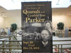 This exhibit is free and open to the public through Dec. 15. Cynthia Ann Parker was kidnapped by Comanches and gave birth to several children, most notably, Quanah Parker. This exhibit tells the story.