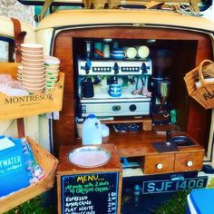Love Laidback Coffee Co's Morris Minor van so old school and cool. Great coffee too! Mobile Cafe, Mobile Shop, Coffee Van, My Coffee, Coffee Food Truck, Chicago Coffee Shops, Mobile Coffee Shop, Coffee Trailer, Food Vans