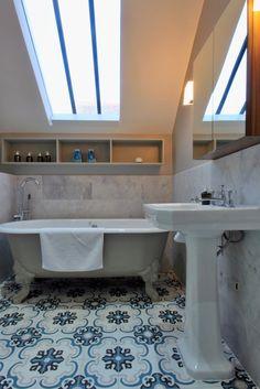 Bathroom within Arts and Crafts House, Bournville Arts And Crafts House, Home Crafts, Sutton Coldfield, West Midlands, Corner Bathtub, Bathroom, Design, Washroom, Full Bath