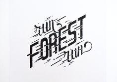 Lettering de filmes. Run Forest Run!