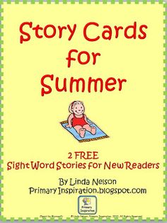 FREE summer story cards for fluency and sight word practice