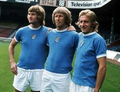 Rodney Marsh, Colin Bell and Denis Law (MCFC 1973-74)
