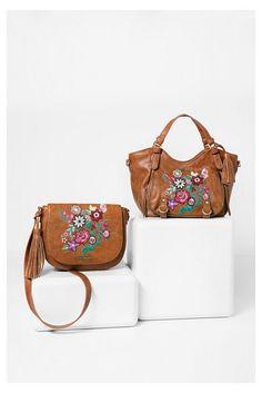 Mini borsa a tracolla marrone con fiori | Desigual.com