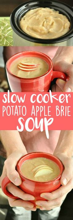 My family and friends LOVE this creamy crock-pot potato apple brie soup!