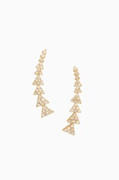 Pave Triangle Path Gold Ear Climber Earrings | Stella & Dot