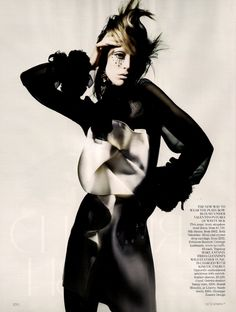 Raquel Zimmermann by Nick Knight in Refined Rebel for Vogue UK November 2010