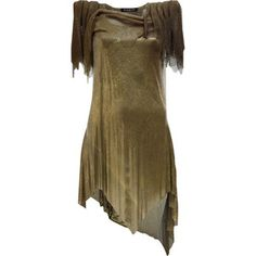 Asymmetric chain mail dress