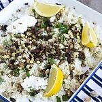 Geroosterde bloemkool met couscous en pistache