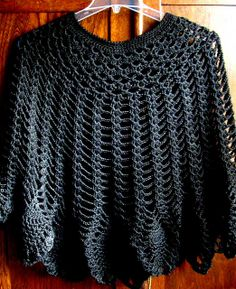 Pineapple Poncho crochet pattern - link goes to this project on Ravelry, which has a link to the free pattern.