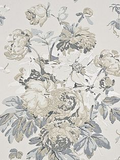 DecoratorsBest - Detail1 - FG071-J79 - GARDEN PEONY SILVER/IVORY - Wallpaper - DecoratorsBest