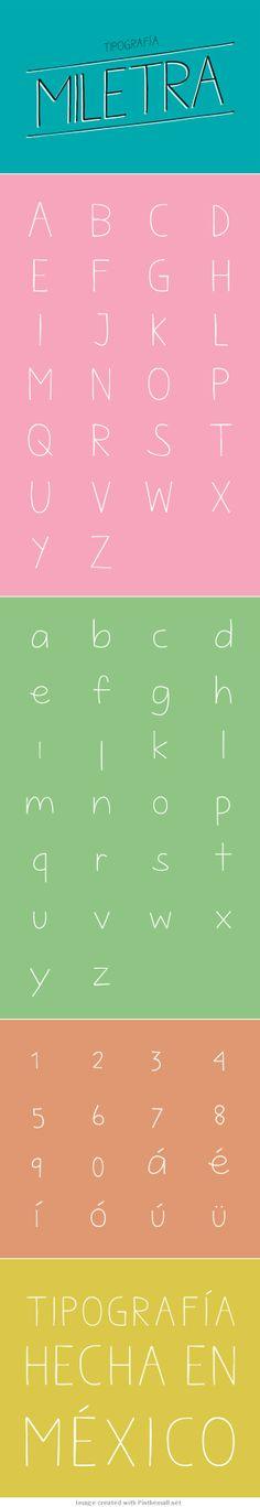 Miletra :: free font