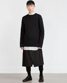 ZARA - MAN - TROUSERS WITH OVERLAID SKIRT