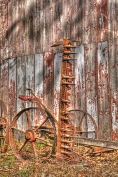 Antique Farm Equipment - (HDR) single exposure processing by Timothy Wildey, via Flickr
