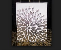 A really cool tin foil flower idea